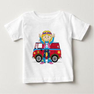 Cartoon-Sechziger-FriedensHippie Baby T-shirt