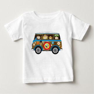 Cartoon-Sechziger-FriedensHippie Van Baby T-shirt