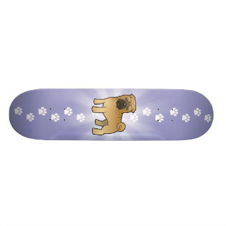 Cartoon Shar Pei 18,7 Cm Mini Skateboard Deck