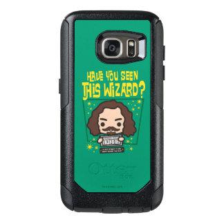 Cartoon Sirius schwarze gewollte Plakat-Grafik OtterBox Samsung Galaxy S7 Hülle