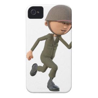 Cartoon-Soldat-Betrieb Case-Mate iPhone 4 Hülle