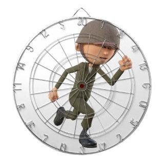 Cartoon-Soldat-Betrieb Dartscheibe