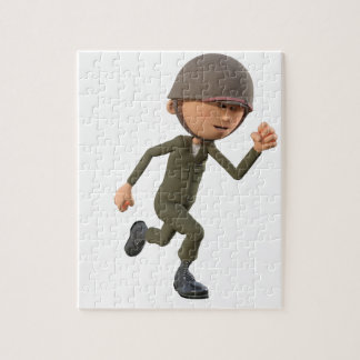Cartoon-Soldat-Betrieb Puzzle