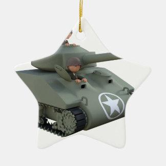 Cartoon-Soldaten in einem Behälter Keramik Ornament