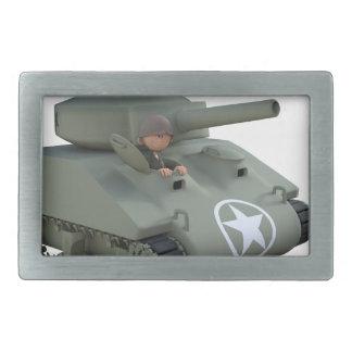 Cartoon-Soldaten in einem Behälter Rechteckige Gürtelschnalle