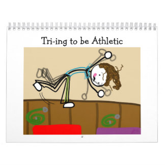 Cartoon-Sport-Kalender 2013: Tri-ing athletisch Abreißkalender