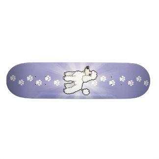 Cartoon Standard/Miniatur-/Spielzeug-Pudel (Welpe Skateboarddeck