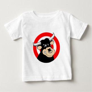 Cartoon-Stier-Bullauge Baby T-shirt