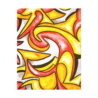 Cartoon-Strudel-Abstrakte Kunst handgemalt Leinwanddruck