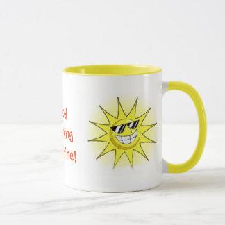 cartoon_sun_01, guter Morgen-Sonnenschein! , Tasse