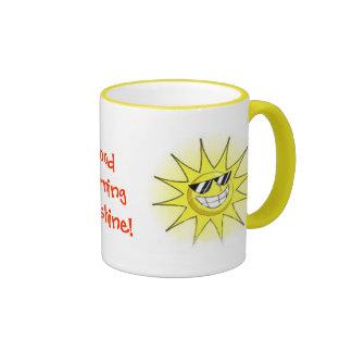 cartoon_sun_01, guter Morgen-Sonnenschein! , Ringer Tasse