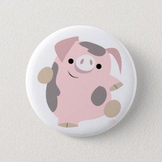Cartoon-Tanzen-Schweinknopf-Abzeichen Runder Button 5,1 Cm