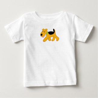 Cartoon Trotting Airedale-Terrier-Welpen-T-Stück Baby T-shirt