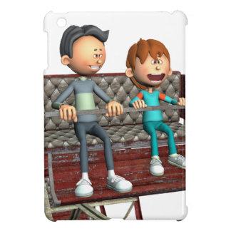 Cartoon-Vater und Sohn auf einem Riesenrad iPad Mini Hülle