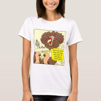 Cartoon Verpflichtung mit 450 Truthähnen T-Shirt