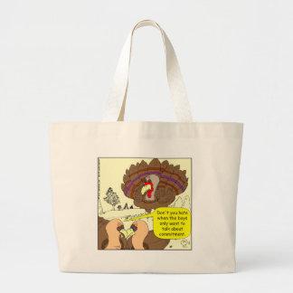 Cartoon Verpflichtung mit 450 Truthähnen Taschen