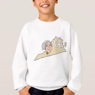 Cartoon Virginia-Staats-VA mit George Washington Sweatshirt