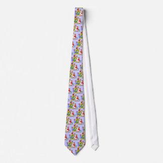 Cartoon-Vogel-Familien-Wiedersehen Personalisierte Krawatten