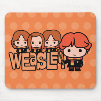 Cartoon Weasley Siblilings Grafik Mousepad