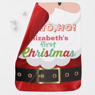 Cartoon-Weihnachtsmann-Anzug des Babys erster Kinderwagendecke