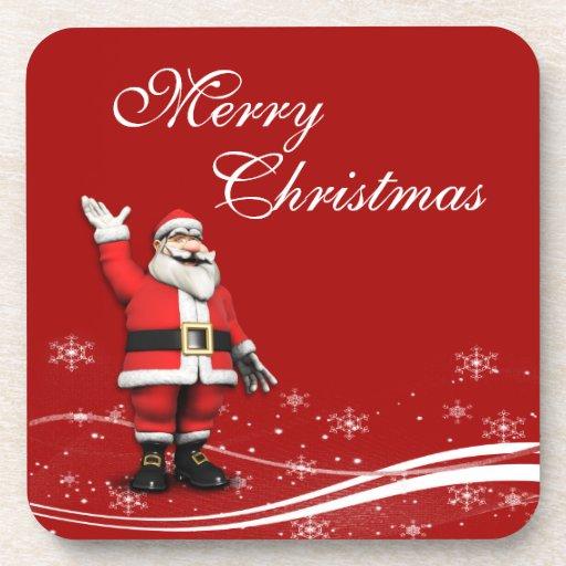 Cartoon-Weihnachtsmann-Weihnachten Drink Untersetzer