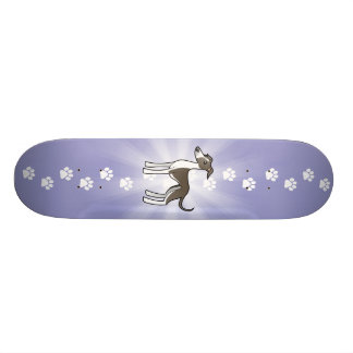 Cartoon-Windhund/Whippet/italienischer Windhund Skateboard Brett