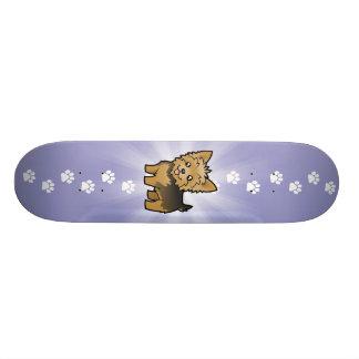 Cartoon-Yorkshire-Terrier (kurzes Haar kein Bogen) Skateboard Bretter
