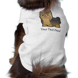 Cartoon-Yorkshire-Terrier (langes Haar kein Bogen) T-Shirt