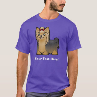 Cartoon-Yorkshire-Terrier (langes Haar mit Bogen) T-Shirt