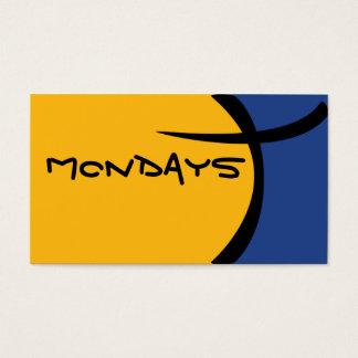 Cartoon-Zelle - Blau und Gelb Visitenkarte