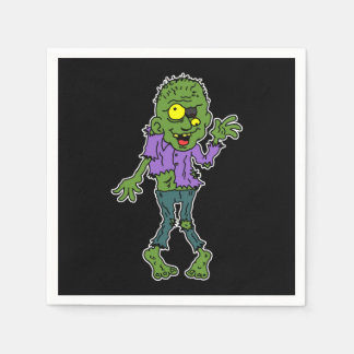 Cartoon-Zombie-Halloween-Party Servietten