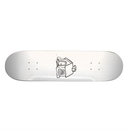 Cartoon-Zuhause Skateboarddeck