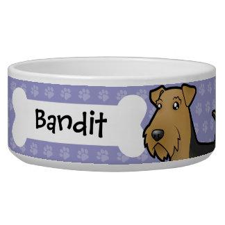 Cartoonairedale-Terrier/Waliser-Terrier Hundefutter-Napf