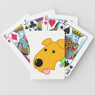 Cartoonairedale-Terrier-Welpen-Gesicht Bicycle Spielkarten