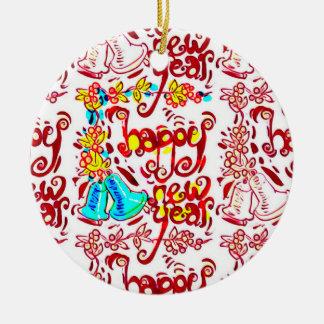 Cartoonart-Handschrift dessign des glücklichen Keramik Ornament