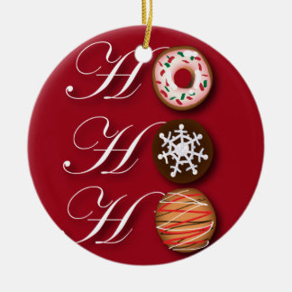 Cartoonbäcker Krapfen-Weihnachtsplätzchen HoHoHo Keramik Ornament