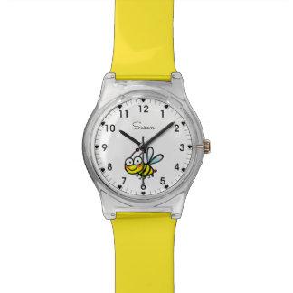 Cartoonbiene Armbanduhr