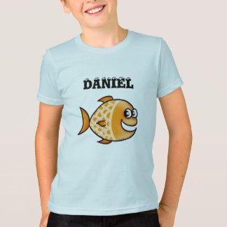 Cartoonfische addieren den Namen Ihr Kindes Hemden
