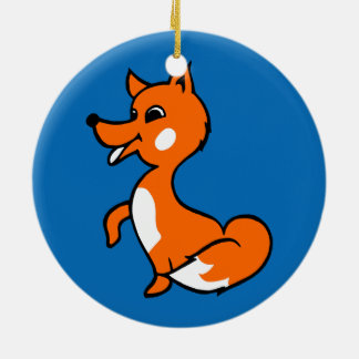 CartoonFox Rundes Keramik Ornament