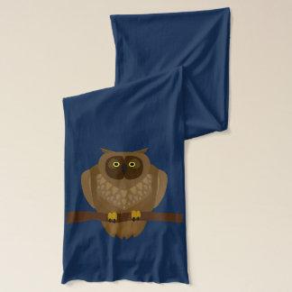 CartoonFox und eine Eule auf Stange Schal