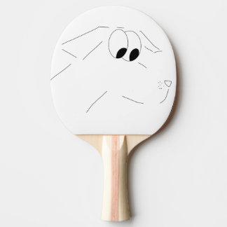 Cartoonhund Tischtennis Schläger
