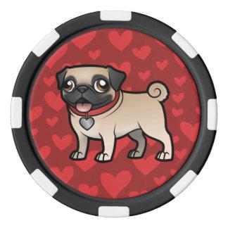 Cartoonize mein Haustier Poker Chips Sets
