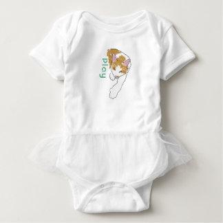 Cartoonkatze mit Spiellogo Baby Strampler