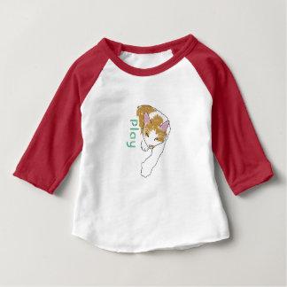 Cartoonkatze mit Spiellogo Baby T-shirt