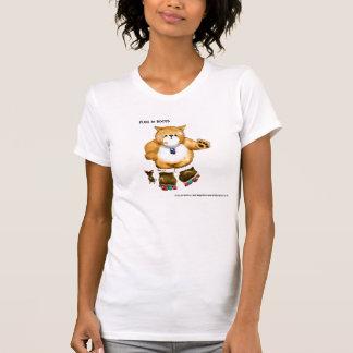Cartoonkatze T-Shirt durch Kait Ballantyne