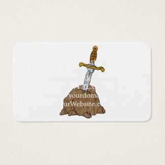 Cartoonklinge im Stein Visitenkarte