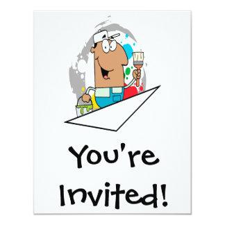 Cartoonmalercharakter Einladung