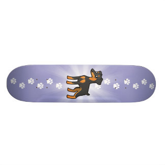CartoonminiaturPinscher/Manchester-Terrier 20,6 Cm Skateboard Deck
