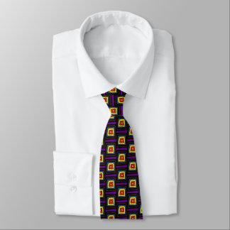 Cartoonquadrate mit verschiedenen Farben Krawatte