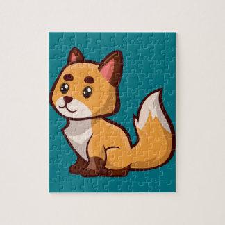 Cartoonroter Fox Puzzle